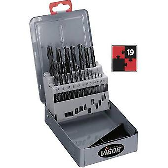 HSS Metal twist drill bit set 19-piece Vigor V120