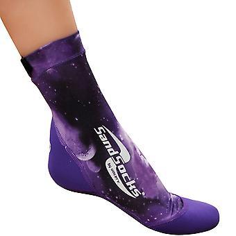 Sand Socks Classic High Top Neoprene Athletic Socks - Purple Galaxy