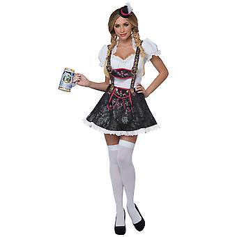 Flirty Fraulein bier meid Wench Beierse Duitsland Oktoberfest Womens kostuum