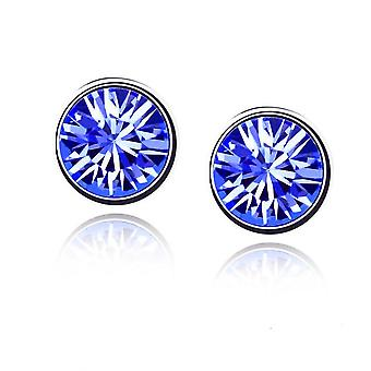 Womens kleine Crystal Stud Oorbellen-juwelen-donker blauw