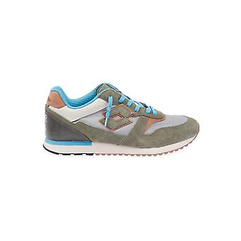 Lotto men's T4578GREEN green leather of sneakers