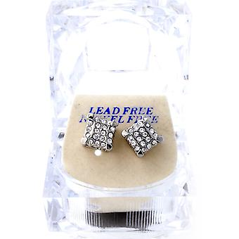 Iced Out Bling Ohrstecker Box - 3D DICE