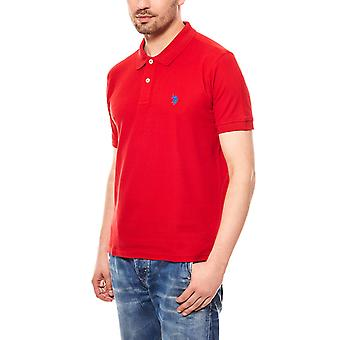 U.S. POLO ASSN. Men's Polo Shirt red short sleeve