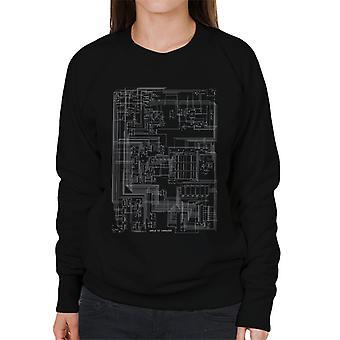 Apple II Computer Schematic Women's Sweatshirt
