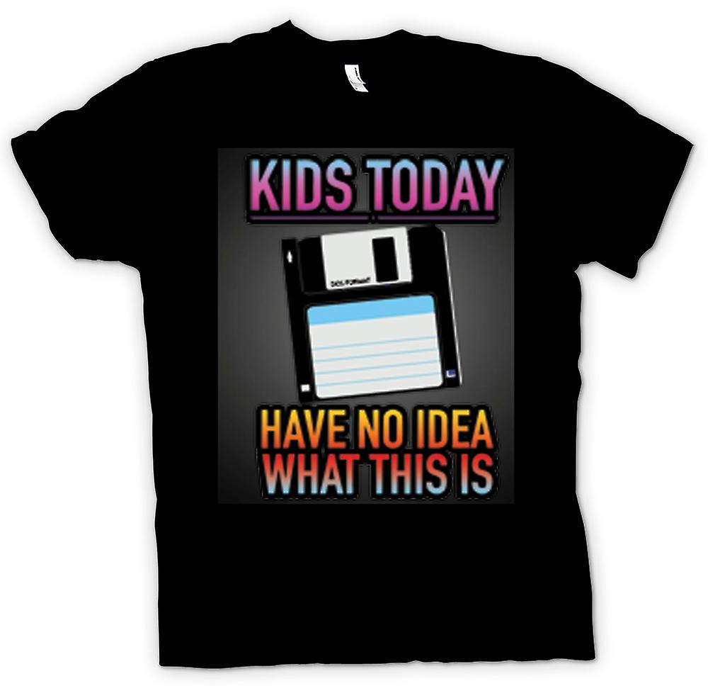 Mens T-shirt - Kids Today Have No Idea What This Is - Floppy Disk