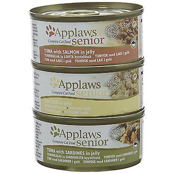 Applaws opakowanie zbiorcze cyny dla starszy kot 70 g x 6 pack
