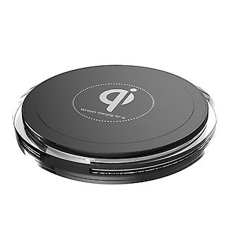 Qi Enabled Wireless Charger - Single Coil, Support 5W, 7.5W, 10W Function, Supports iPhone Samsung Galaxy and more