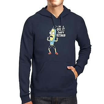 Rick And Morty Poopy Butthole Men's Hooded Sweatshirt