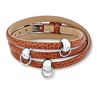 s.Oliver jewel ladies charm bracelet brown leather SOCHB/41 - 441421