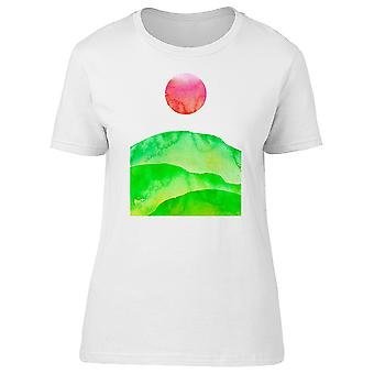Lovely Shamrock Valley And Sun Tee Women's -Image by Shutterstock