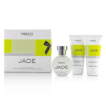 Yardley London Jade Coffret: Eau De Toilette Spray 50ml/1.7oz + Luxury Body Wash 75ml/2.5oz + Moisturising Body Lotion 75ml/2.5oz 3pcs