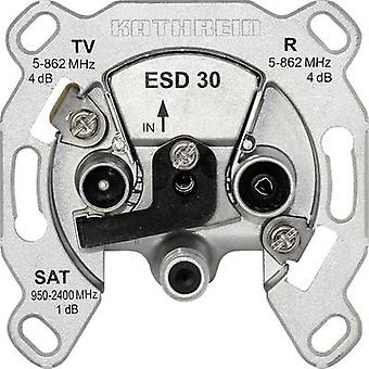 Kathrein ESD 30 Antenna socket SAT, TV, FM Flush mount