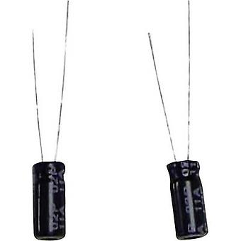 Electrolytic capacitor Radial lead 2.5 mm 100 µF 16 Vdc 20 % (Ø x H) 6.3 mm x 11 mm 1 pc(s)