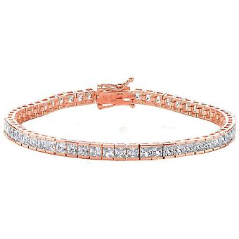 Cavendish French Small Square Cubic Zirconia Tennis Bracelet - Rose Gold