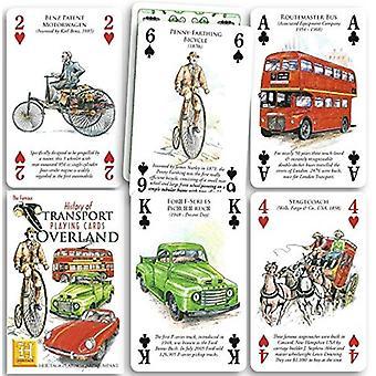 Geschiedenis van het vervoer - over land Set van 52 speelkaarten (+ Jokers)