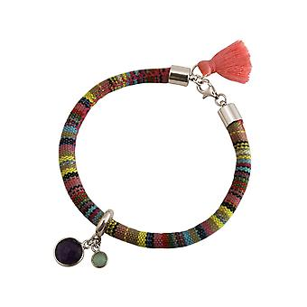 Gemshine Damen Armband 925 Silber AZTEC Amethyst Violett Türkis
