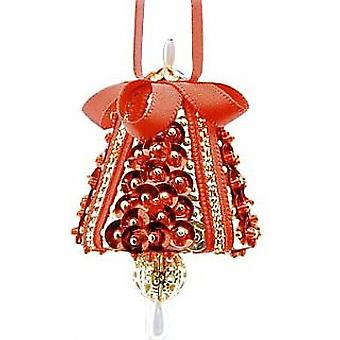 Pinflair Sequin & Pin Red & Gold Tiny Chimes - Makes 4