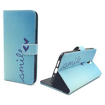 Telefon komórkowy case etui dla przenośnych Lenovo ZUK Z1 napis uśmiech Blau