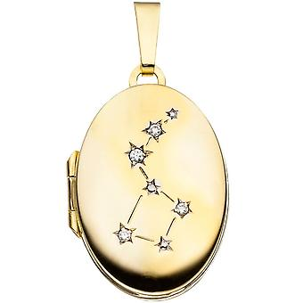 Medallion 333 /-g-gold locket for photos Photo Pendant gold