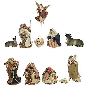 11-piece Nativity figurines. Set synthetic resin Nativity figurines ORIENTAL 13 cm