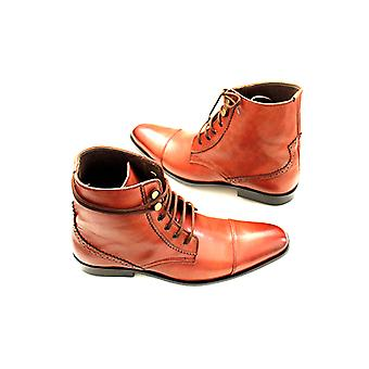 Handcrafted Premium Leather Camden Plain Brown Ankle shoe