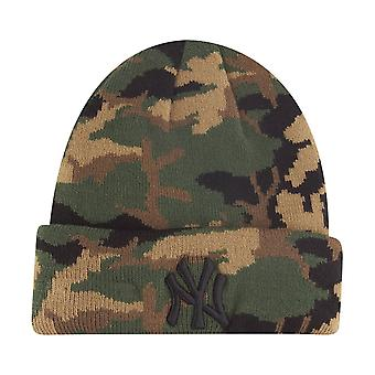 New Era Kinder Wintermütze Beanie - NY Yankees wood camo