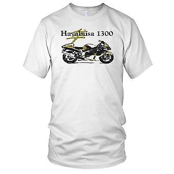 Suzuki Hayabusa 1300 klassisk sykkel Mens T-skjorte
