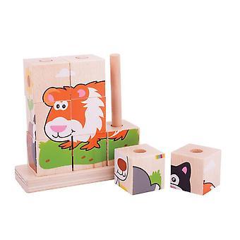 Bigjigs Toys Stacking Blocks Pets