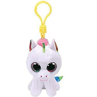 Ty Beanie Boo TOPPLUVA Unicorn Keyring klipp vita