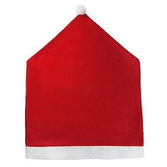 TRIXES géant père Noël Santa Claus chapeau sur le thème chaise housse du dossier