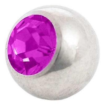 Piercing boule de rechange, bijoux de corps, Pierre violet | 1, 6 x 4, 5 et 6 mm