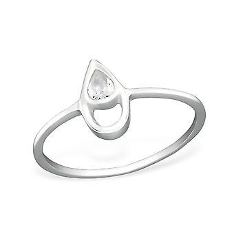 Teardrop - 925 Sterling Silver Cubic Zirconia anelli - W27258X