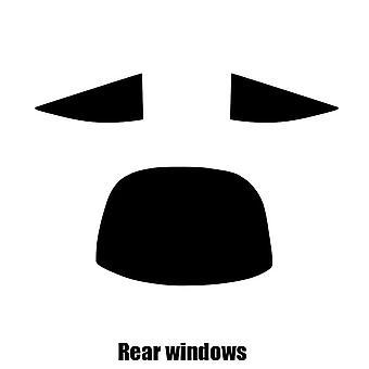 Pre gesneden venster tint - Mercedes CL Coupe - 2007 tot en met 2014 - achterzijde windows