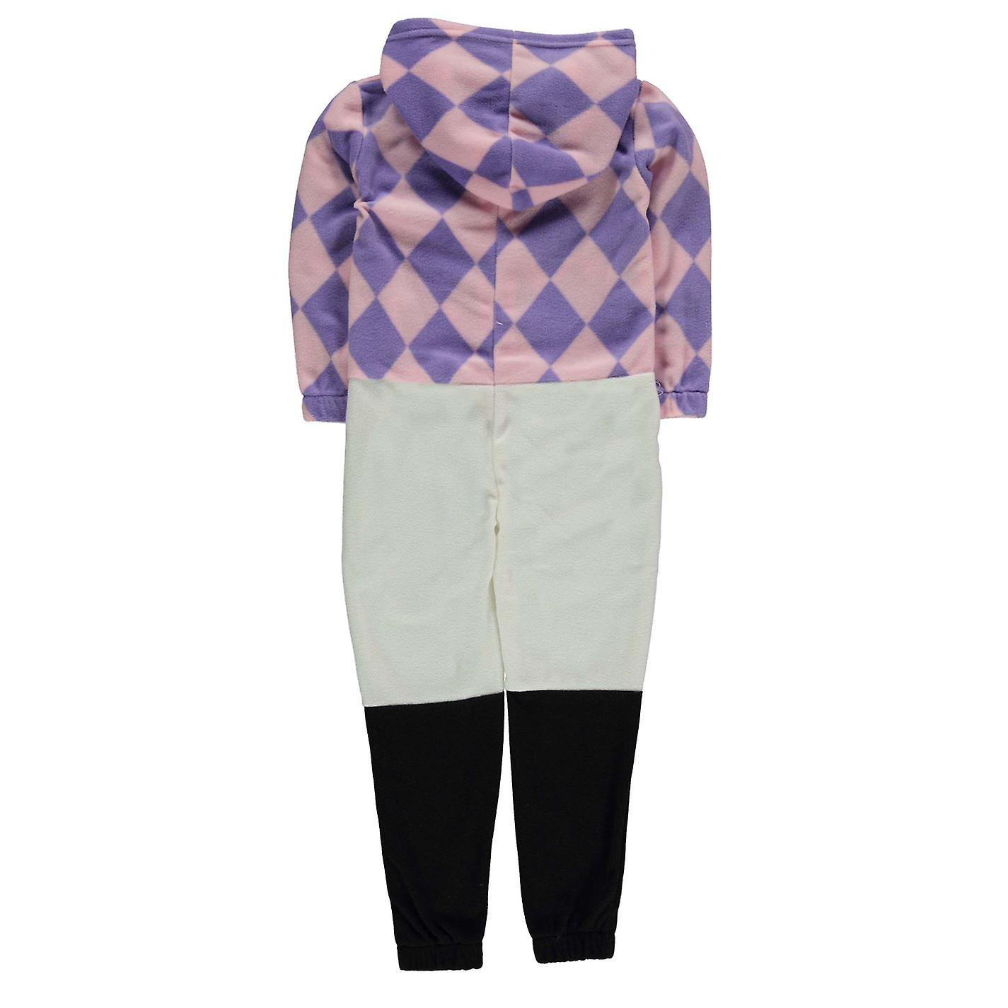 Jockey Kinder Mädchen Onesie Kind Pyjama Set Kapuzen Zip elastische Manschetten