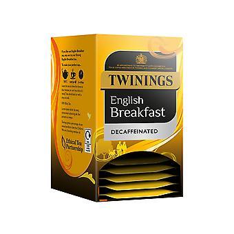 Twinings English Breakfast Decaf umhüllt Teebeutel
