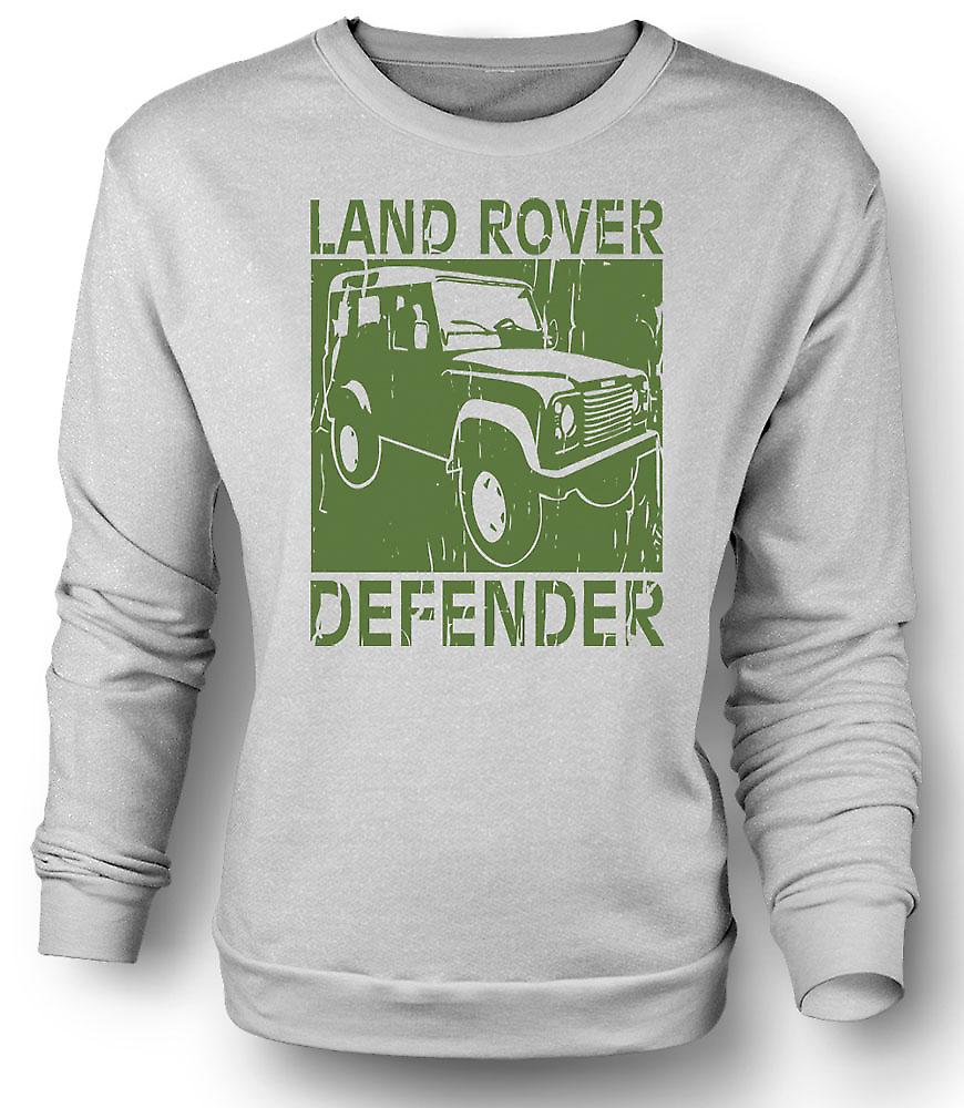 Mens Sweatshirt Landrover Defender Offroad