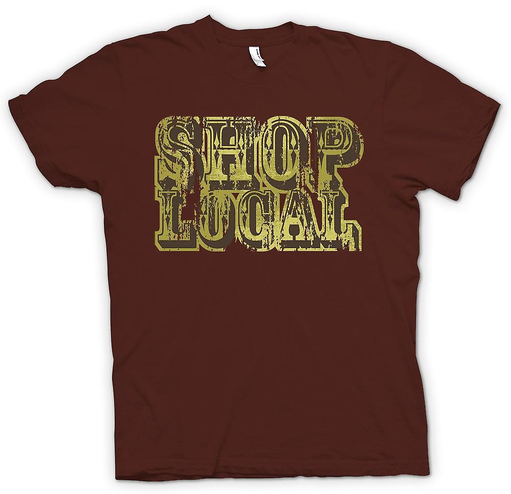 Heren T-shirt - Shop Local - Funny
