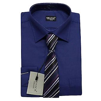 Page Boy Navy Blue Shirt and Tie Set