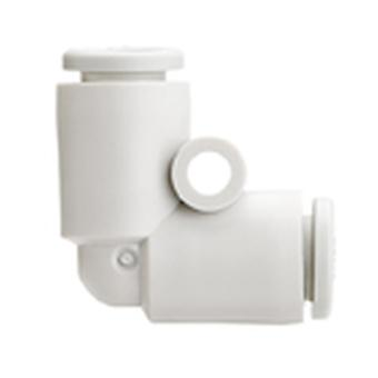 Smc Pneumatic Elbow Tube-To-Tube Adapter, Push In Connection A 6Mm, B 6Mm
