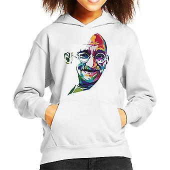 Geometric Celebrity Mahatma Gandhi Kid's Hooded Sweatshirt