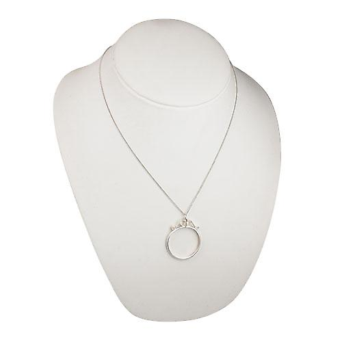 Silver 40x32mm half Crown or two and six pence coin mount with 2 scrolls Pendant with a curb Chain 20 inches