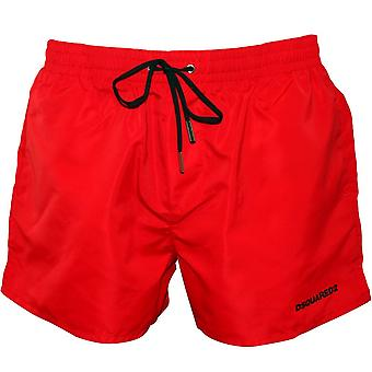 DSquared2 icono insignia Swim Shorts, rojo/negro