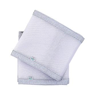Purflo PurAir Breathable Cot Bumper- Grey/White Stripe