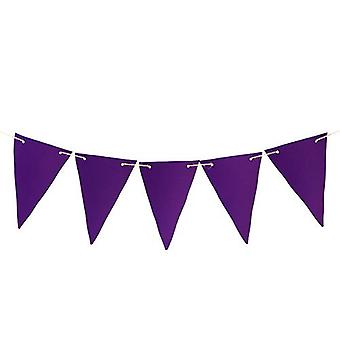 Gardenista® Purple 10ft Water Resistant Fabric Bunting