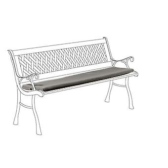 Grey Water Resistant Small Outdoor Bench Seat Cushion