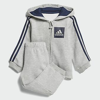 Niños niño Adidas con capucha Chandal 3-rayas CF7388