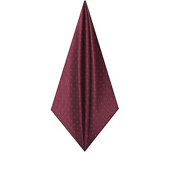 Dobell Mens Burgundy with Large Spots Handkerchief