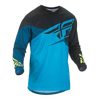 Fly Racing Blue-Black-Hi-Vis 2019 F-16 Kids MX Jersey