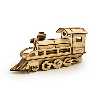 Crafts - steam engine 500 - model kit raw wood 8x3x4in