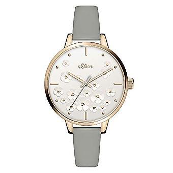 s.Oliver Quartz Women's Analog Clock with SO-3840-LQ Leather Belt
